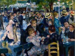 PAINTING-PORTRAIT-GROUP-RENOIR-DANCE-MOULIN-GALETTE-POSTER-ART-PRINT-BB12538B