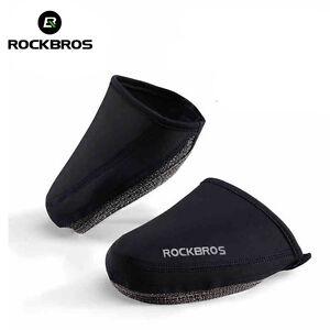 ROCKBROS-Cycling-Shoe-Covers-Windproof-Half-Overshoe-Shoe-Cover-Black
