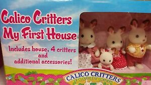 CALICO CRITTERS My First house 3+ boys/girls rare COMES 4 RABBIT FAMILY-retired