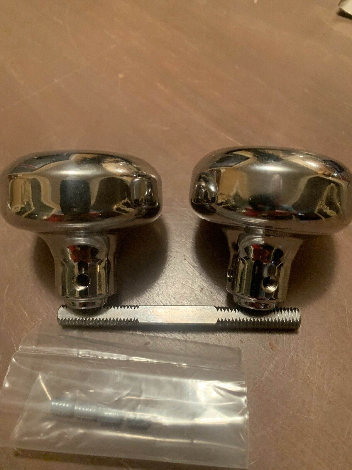 Progressive solid brass door knob set in polished chrome,new in box,25available