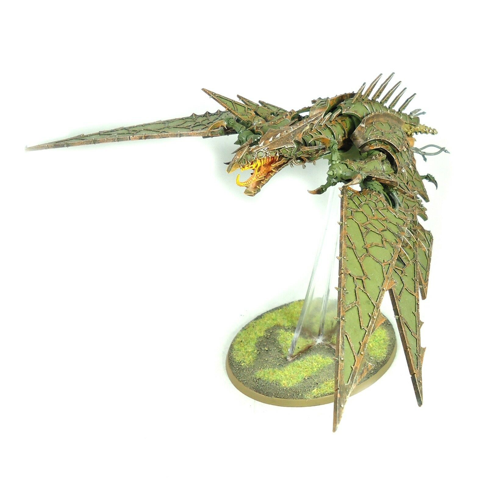 Warhammer 40k Army Chaos Space Marines Heldrake Painted And Based Plastic