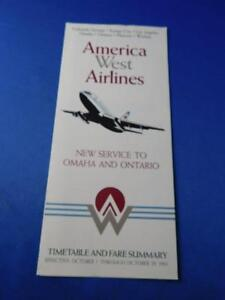 AMERICA-WEST-AIRLINES-TIMETABLE-FARES-OCTOBER-1983-SERVICE-TO-OMAHA-amp-ONTARIO
