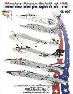 Impact-Decals-48-007-USMC-Spirit-of-039-76-A-4E-TA-4J-F-4B-RF-4B-A-6E-EA-6A