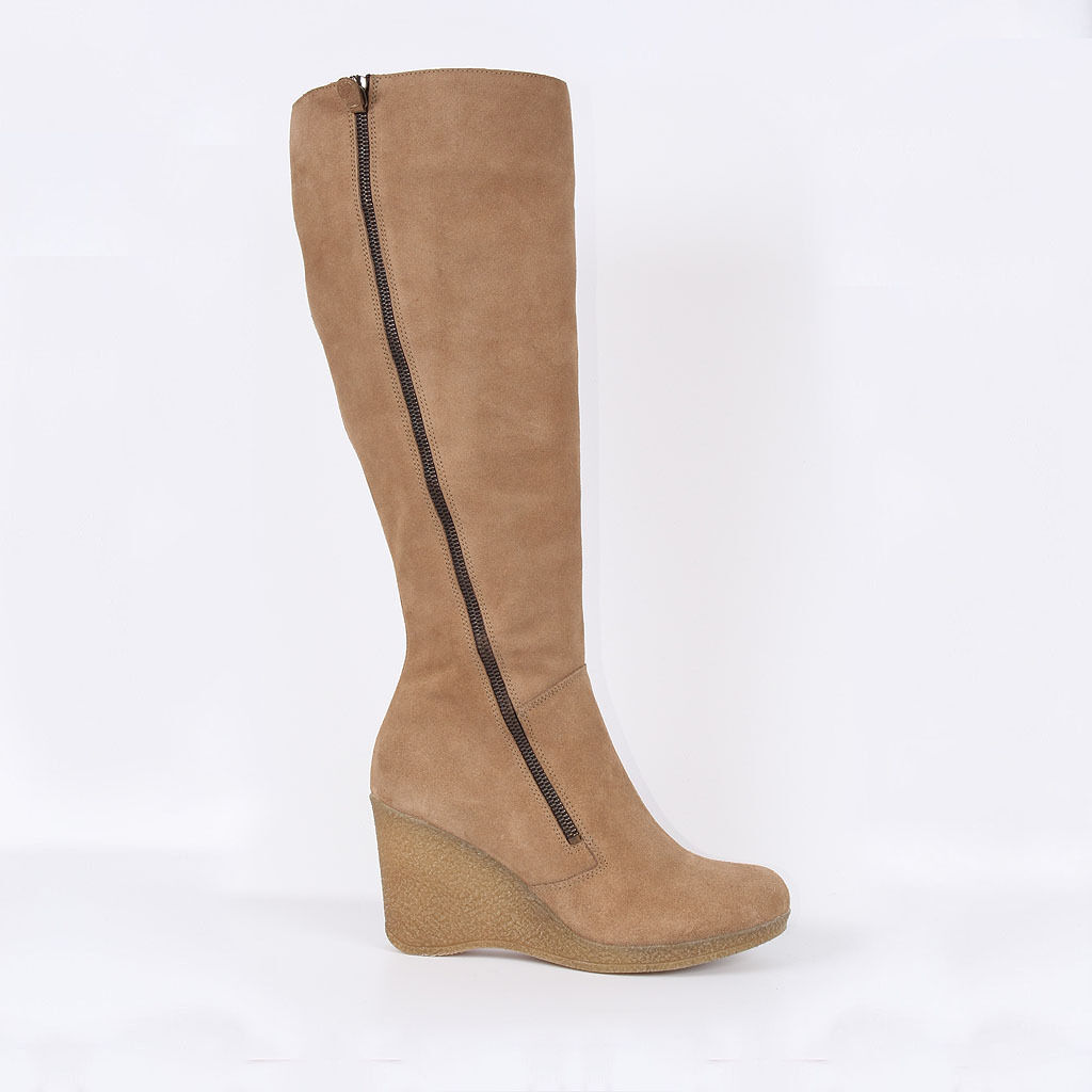 PYME señora botas marrón de cuero nuevo 40 41 zapatos