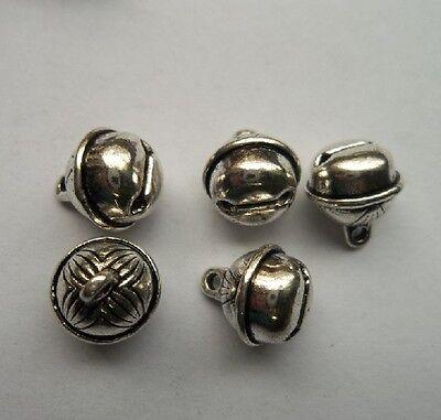 20 pcs Tibetan silver alloy small bell charms pendant 11x11mm