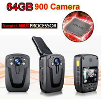 D900 Ntk96650 Police Wearable Body Video Camera Recorder Dvr 64gb Hd 1080p Gyj