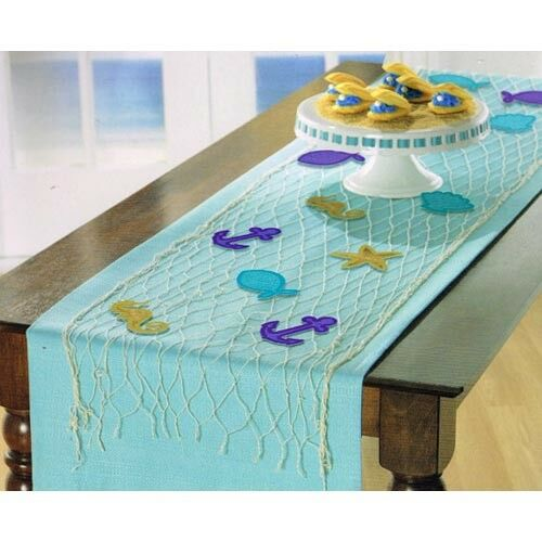 MERMAID WISHES DELUXE TABLE RUNNER DECORATING KIT ~ Birthday Party Supplies Sea