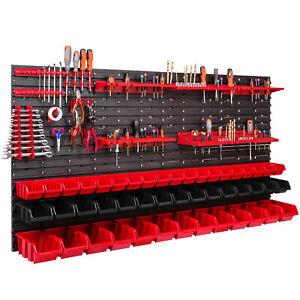 18 Stapelboxen  Werkzeughalter Wandregal Werkstattregal Werkzeugwand 156 x 78 cm
