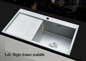 Image Is Loading Square 1 0 Large Bowl Kitchen Sink Stainless