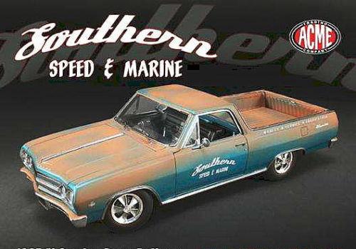 1 18 Gmp 1965 Chevrolet El Camino Southern Speed & Navy Rusty