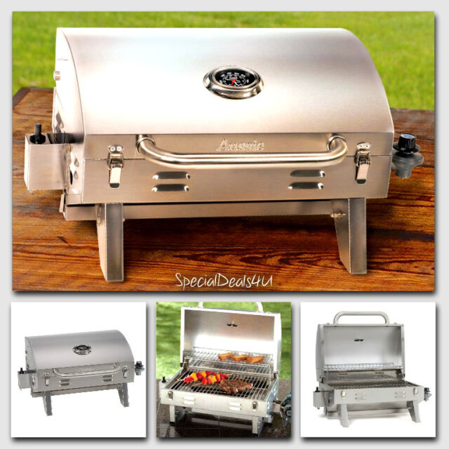 Genial Stainless Steel Propane Gas Grill Portable Table Top BBQ Barbecue Camping  Boat N