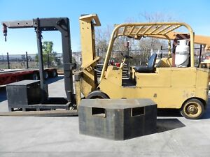 Details about 30K Caterpillar Forklift(Model T300), w/counterweights, boom  stand and job box