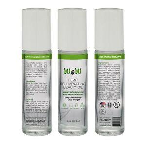 3 PACK Hemp Pain Relief DMSO Vitamin C Serum Hyaluronic Glycolic Acid Roll-On