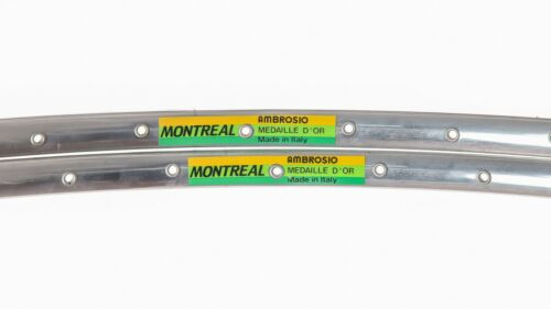 """NOS AMBROSIO MONTREAL RIMS 28/"""" 700c 36H VINTAGE TUBULARS 70s 80s ROAD MEDAILLE"""
