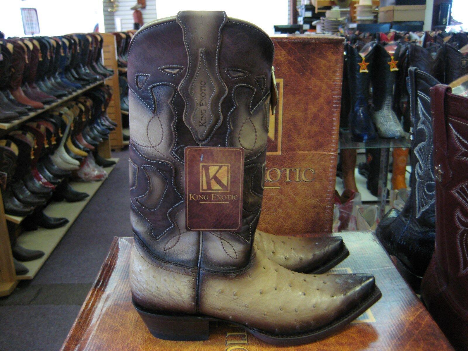 KING EXOTIC TAN ORYX SNIP TOE GENUINE OSTRICH OSTRICH OSTRICH WESTERN COWBOY BOOT 94DRD0315 bd045c