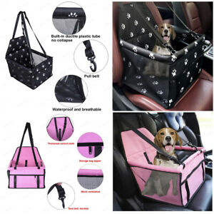 Collapsible-Pet-Dog-Booster-Car-Seat-Cat-Car-Carrier-And-Zipper-Storage-Pocket