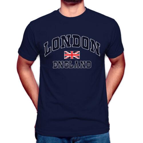 LONDON ENGLAND UNISEX T-SHIRT TEE TRENDY GREAT BRITAIN GIFT UNION JACK T SHIRT