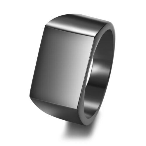 Personnalisé Anneaux graver nom Photo Logo Anneau hommes Chevalière Anneaux pour cadeau de mariage