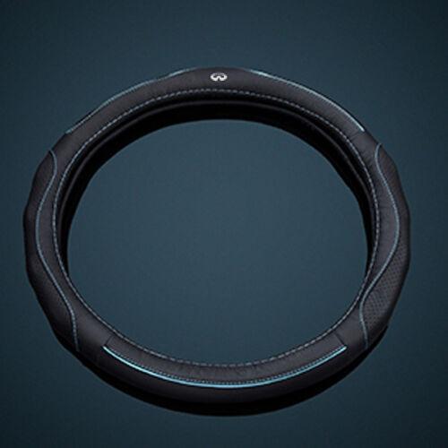 38CM Black Car Steering Wheel Cover Frame for Infiniti Q50 Q50L Q70 QX50//70//80