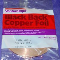 7/32 Inch Black Back Copper Foil Tape 36 Yard Roll Is Black On Adhesive Side