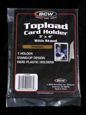 """NEW Case Top Loader BCW Toploader 3/""""x4/"""" Regular Card Holder 25 Count Pack"""