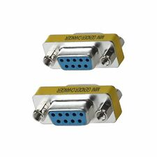 WOVTE Db9 Female to Mini Gender Changer Coupler Adapter Connector Pack of 2