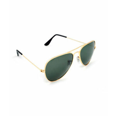 Men's Green Aviator Style Sunglasses Golden Frame with Free Shipping