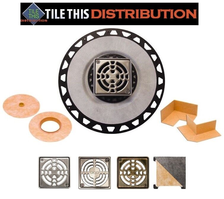 SCHLUTER KERDI SHOWER DRAIN KITS   Farbe Selections Available