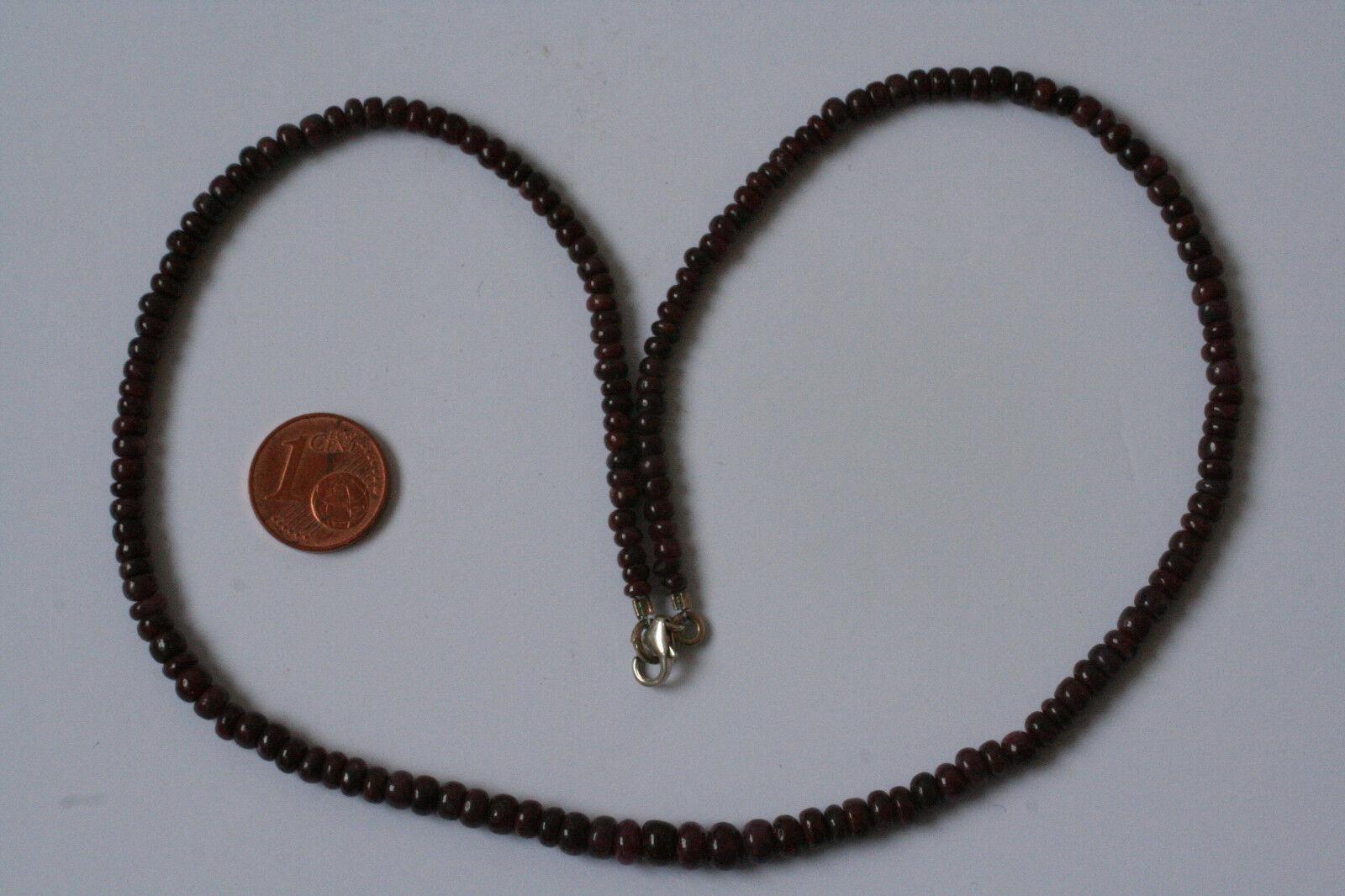 Rubin-Kette(Kugel, 3-5,5 mm. Verlauf, L=45,5 cm) K-0008 K