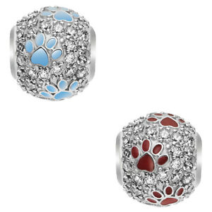 Sterling-Silver-CZ-Enamel-Puppy-Paw-Footprint-Bead-for-European-Charm-Bracelets