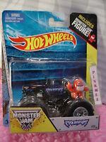 2014 Monster Jam Hot Wheels 25 Predator☆black Truck W/ Red Figure☆1/64