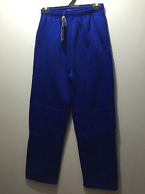 BNWT Boys Sz 10 Slim Blue Grey Stripe Fleece Zip Pocket Cuffs Track Pants
