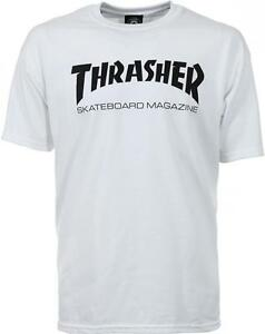 THRASHER-T-SHIRT-SKATE-MAG-LOGO-WHITE