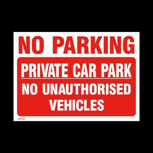 150mm X 200mm misc30 No hay aparcamiento aparcamiento privado señal etiqueta engomada a5