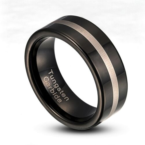 Tungsten Carbide 8mm Wedding Band Comfort Fit Ring US Size 8-14 TG006