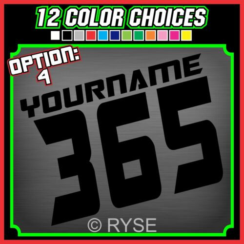 3 MX Name Number Plate Decals Stickers ATV SX BMX Dirt Bike Kart Motorcycle Race