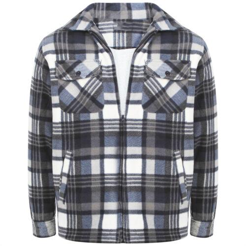 Homme d/'épaisseur chemise bûcheron à carreaux Matelassé Chaud Hiver Travail Chemise Taille