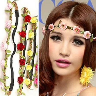 Multi-Colors Delicate Flower Wreath Garland Hair Band Party Wedding Decorative