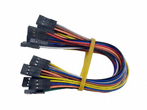 10X 15cm 3P Female (F-F) Arduino Jumper Cable Cables Wire Wires ...