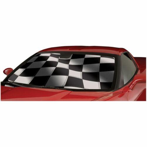 Intro-Tech Racing Flag Windshield Sun Shade for Chevrolet 2010-2015 Camaro