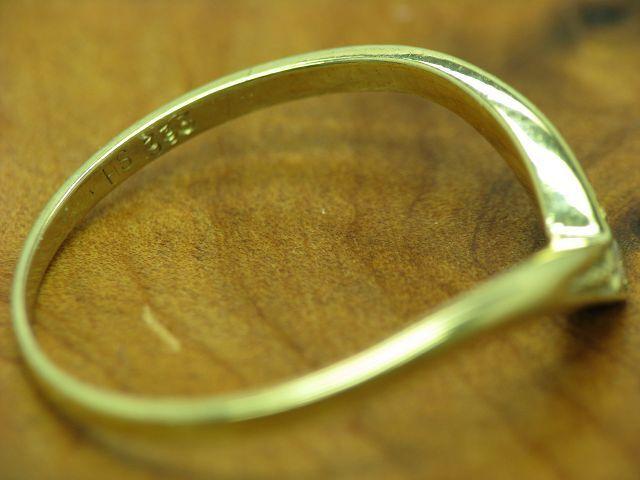 8kt 8kt 8kt 333 oro TRIColoreE RINGSET con guarnizione in diamante anelli 3 3 1g RG 51 5 2a3016