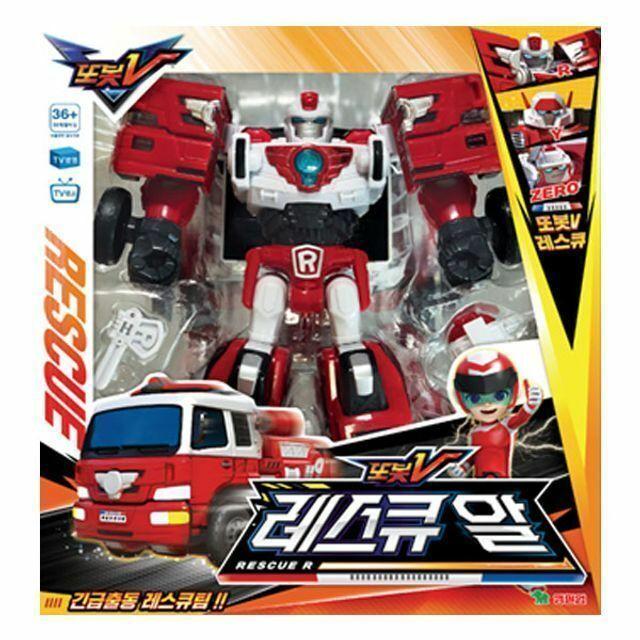 Tobot V Rescue R Transform Robot Ambulance Car Action Toy Figure Animation_MC