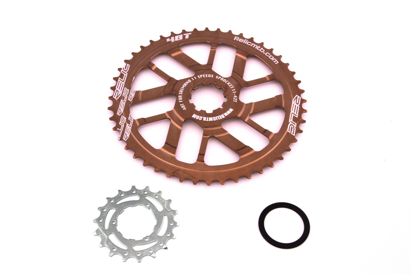 Relic 48T Final Gear Upgrade Kit for Shimano 11 Speed - 11 42T Cassette - Bronze