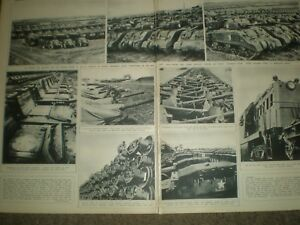 Photo article WWII USA invasion armaments in the UK 1944 ref AO