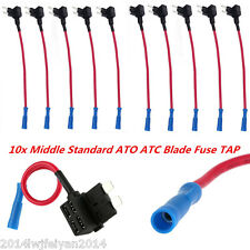 3pcs Medium Middle Standard ATO ATC Blade Fuse TAP Dual Circuit Adapter Auto CAR