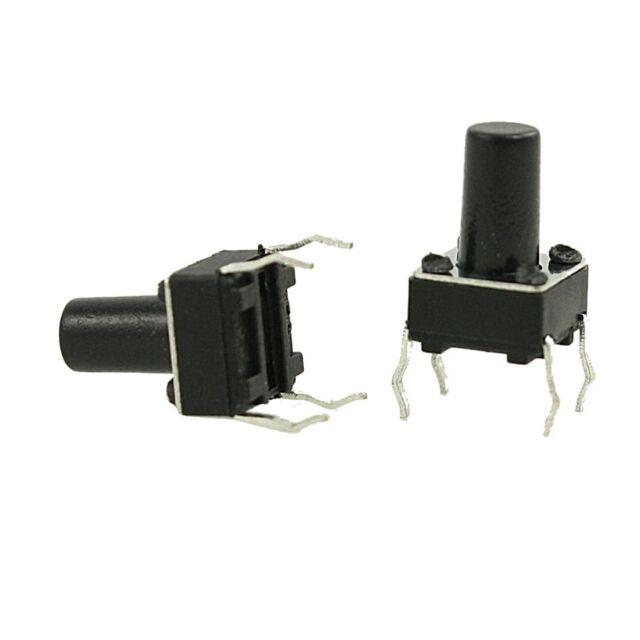 100pcs Tactile Push Button Switch Tact Switch 6X6X10mm 4-pin DIP