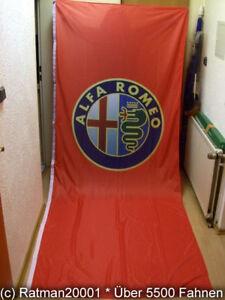 90 x 150 cm Fahnen Flagge Alfa Romeo Rot
