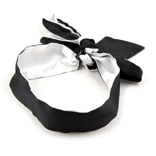 Soft Silk Satin Eye Mask Blindfold Ribbon Bondage Patch Unisex Adult Games