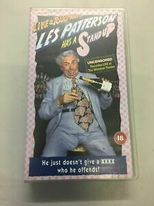 VHS-Tape-Live-amp-Rampant-Les-Patterson-Has-A-Stand-Up-PAL