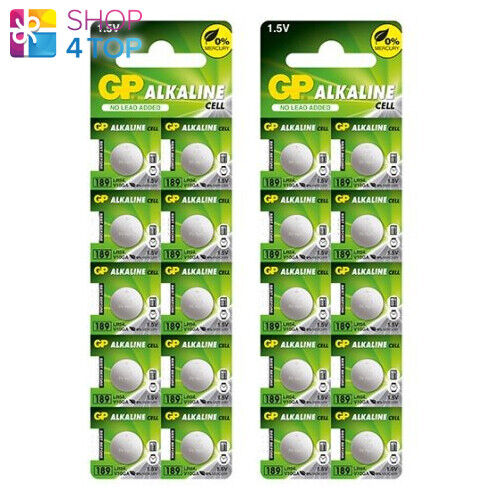20 Gp Alkaline Cell LR54 189 Batteries G10 1.5V Coin Cell Button Exp 2022 New